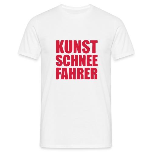 Kunstschneefahrer - Männer T-Shirt