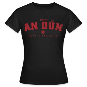 Vintage Down Football T-Shirt - Women's T-Shirt