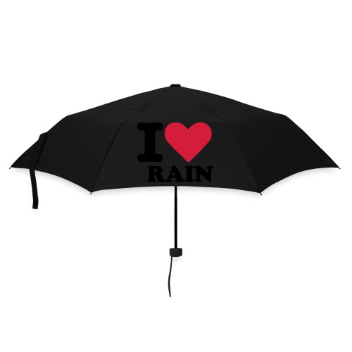 unbrello ilove rain - Umbrella (small)