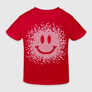 Röd Smilie - Smiley - funny Barn-T-shirts - Ekologisk T-shirt barn