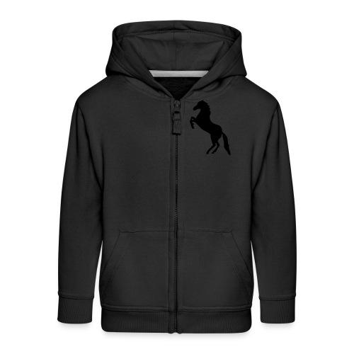 Kids horse designed hoodie - Kids' Premium Zip Hoodie