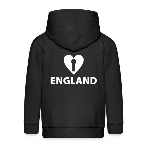 I LOVE ENGLAND - Kids' Premium Zip Hoodie