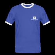 T-Shirts ~ Männer Kontrast-T-Shirt ~ T-Shirt blau/weiss