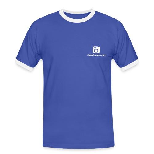 T-Shirt blau/weiss - Männer Kontrast-T-Shirt