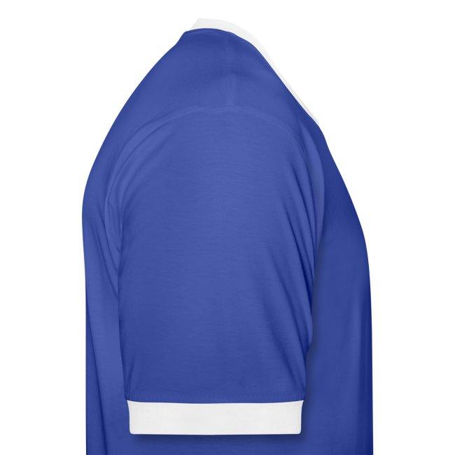 T-Shirt blau/weiss