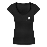 T-Shirts ~ Frauen T-Shirt mit U-Ausschnitt ~ T-Shirt U-Lady schwarz