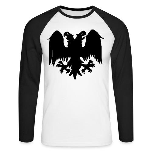 Dark Eagle Black Long Sleeve Tee - Men's Long Sleeve Baseball T-Shirt