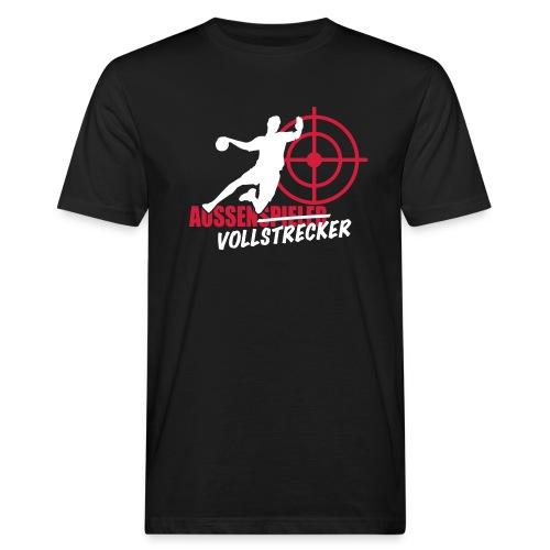Außenvollstrecker weiß rot - Männer Bio-T-Shirt