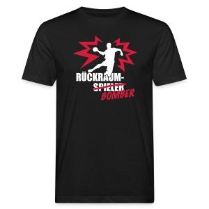 Rückraumbomber weiß rot - Männer Bio-T-Shirt