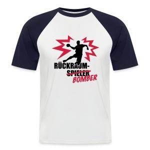 Rückraumbomber Raglan - Männer Baseball-T-Shirt