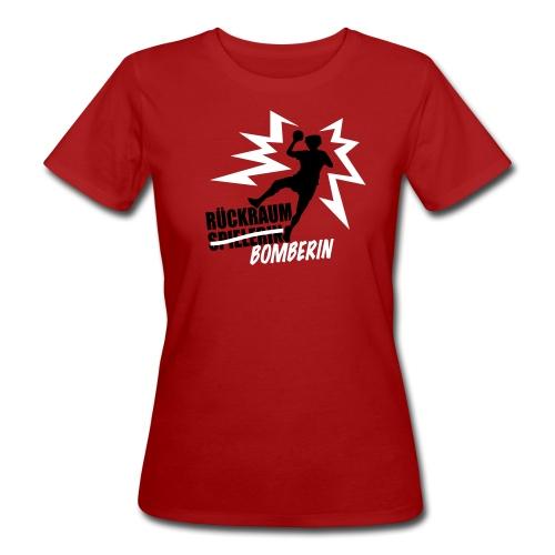 Rückraumbomberin schwarz/weiß - Frauen Bio-T-Shirt