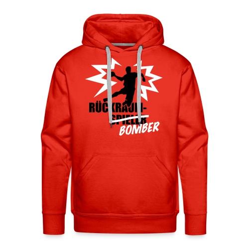Rückraumbomber weiß schwarz, Pulli - Männer Premium Hoodie