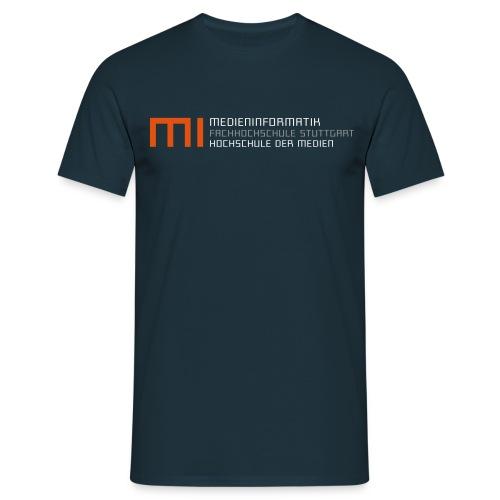 MI @ HdM (blau) - Männer T-Shirt