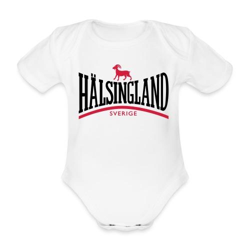 Ekologisk kortärmad babybody - Bock,Hälsingland,hälsingebock