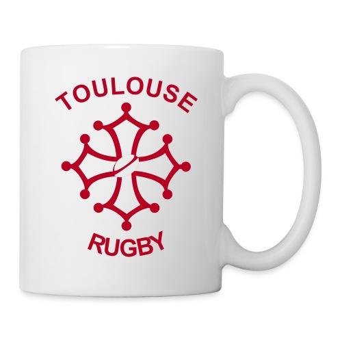 Tasse Toulouse Rugby rouge - Mug blanc