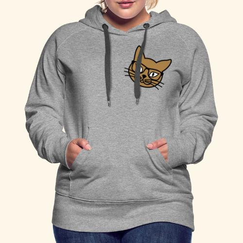 Frauen Kapuzenpulli Nerd Kitteh - Frauen Premium Hoodie