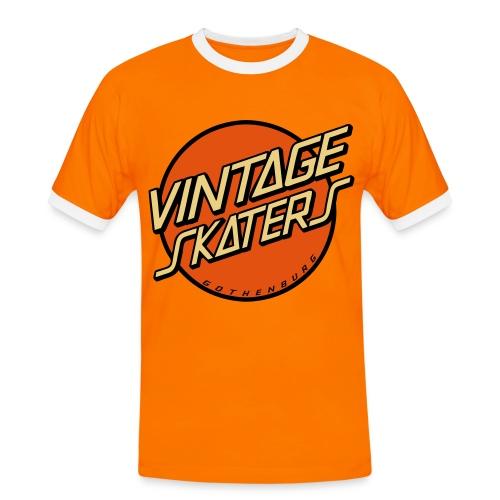 VSK8 Orange Retro - Kontrast-T-shirt herr