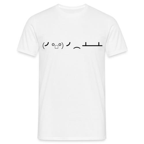 Black Tableflipper - Männer T-Shirt klassisch - Männer T-Shirt
