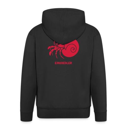 t-shirt schürze einsiedler krebs schnecke muschel schnegge meer strand fisch sternzeichen einsam koch kochen meeresfrüchte krabbe - Männer Premium Kapuzenjacke