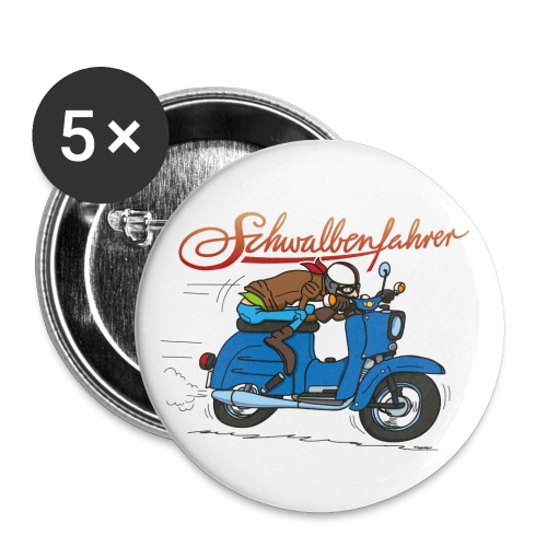 Schwalbenfahrer Raser Button - Buttons groß 56 mm