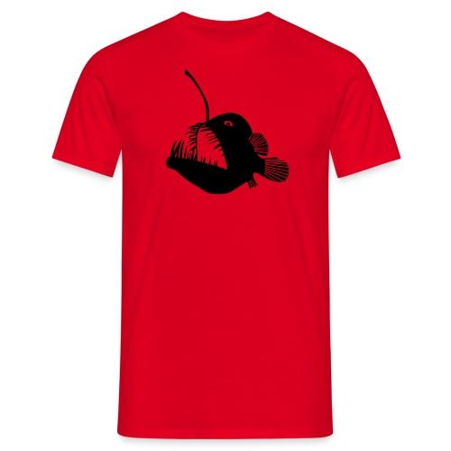 t-shirt hoodie schürze anglerfisch angler angeln fisch tiefsee hochsee fischen monster seeteufel piranha laterne raubfisch maul zähne - Männer T-Shirt