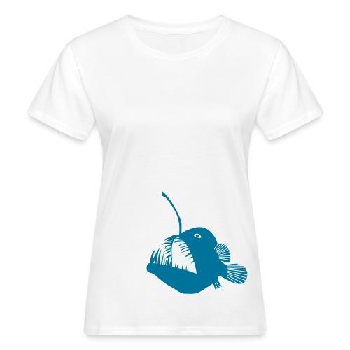 t-shirt hoodie schürze anglerfisch angler angeln fisch tiefsee hochsee fischen monster seeteufel piranha laterne raubfisch maul zähne - Frauen Bio-T-Shirt