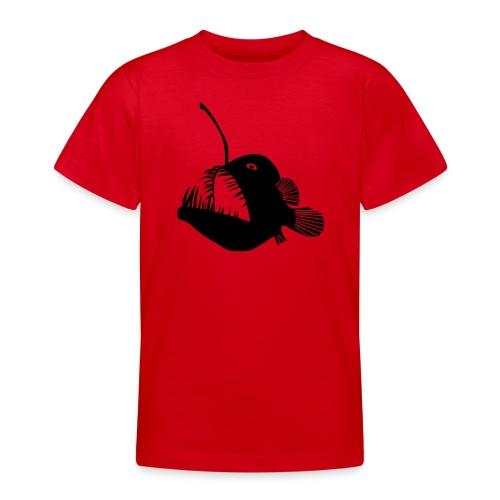 t-shirt hoodie schürze anglerfisch angler angeln fisch tiefsee hochsee fischen monster seeteufel piranha laterne raubfisch maul zähne - Teenager T-Shirt