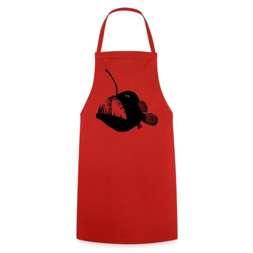 t-shirt hoodie schürze anglerfisch angler angeln fisch tiefsee hochsee fischen monster seeteufel piranha laterne raubfisch maul zähne - Kochschürze