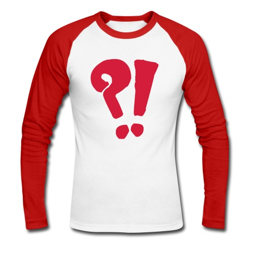 ?! College Shirt - Männer Baseballshirt langarm