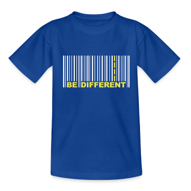 Be Different - Codice a barre - Barcode T-shirt bambini