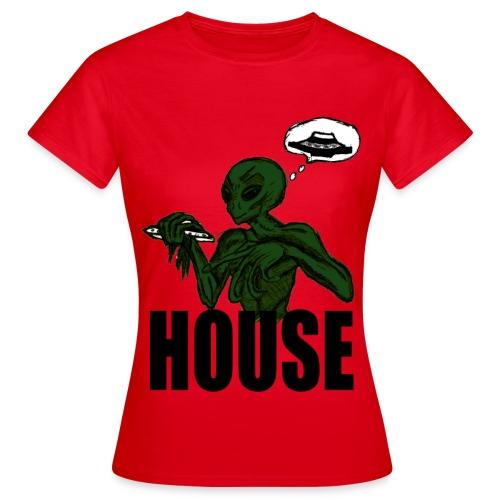 T shirt femme alien house - T-shirt Femme