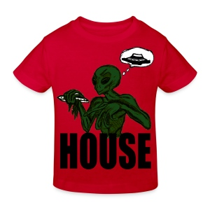 T shirt enfant alien house - T-shirt Bio Enfant