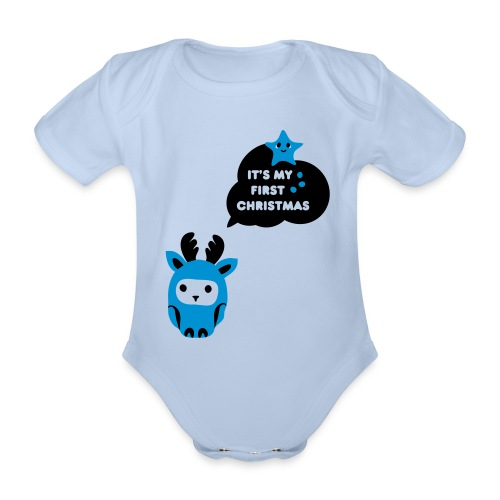 This Is My First Christmas - Baby one piece - Organic Short-sleeved Baby Bodysuit