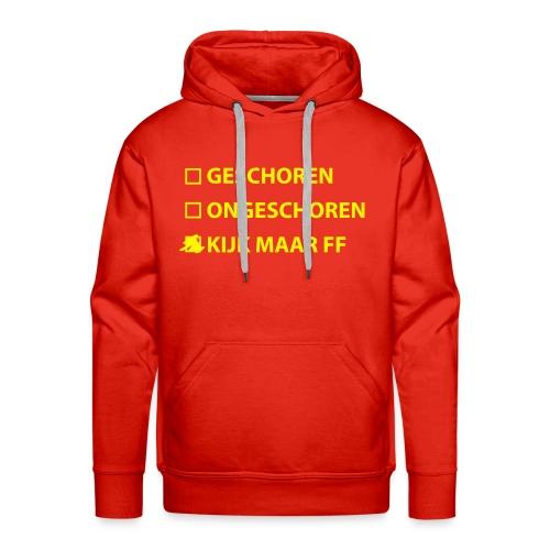 Landmacht Capuchontrui - Geschoren / Kijk maar ff - Mannen Premium hoodie