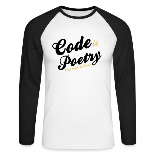 Code is Poetry - Blog High-Tech - T-shirt baseball manches longues Homme