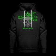 Hoodies & Sweatshirts ~ Men's Premium Hoodie ~ Skull.sys neon green/grey