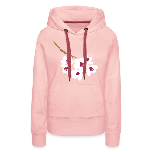 Sweat-shirt Fleur de cerisier Japonais - Sweat-shirt à capuche Premium pour femmes