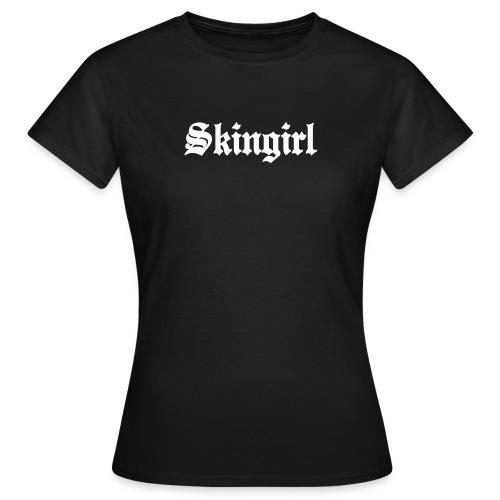 Girlie Shirt Skingirl(weiß) - Frauen T-Shirt