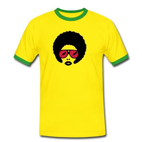 Afro T (yellow/green) - Men's Ringer Shirt