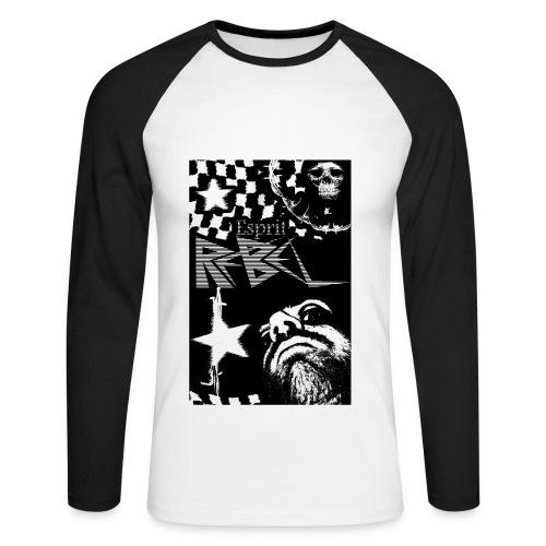Esprit rebelle - T-shirt baseball manches longues Homme