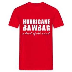 Men's T-Shirt - Get blown away with the Get Around Scotland I Survived Hurricane BawBag  T-Shirt