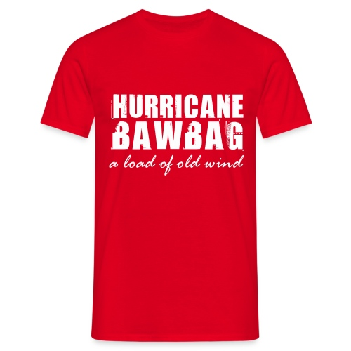 Men's T-Shirt - Get blown away with the Get Around Scotland I Survived Hurricane BawBag  T-Shirt