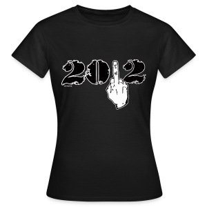 Happy New Year  middle finger - Women's T-Shirt