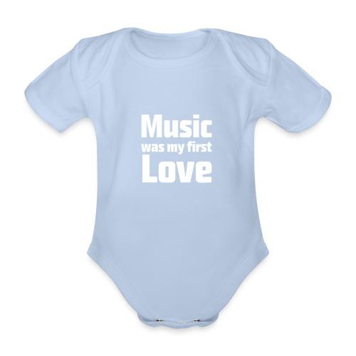 rompertje Music was my first love - Baby bio-rompertje met korte mouwen