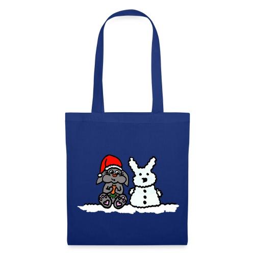 Weihnachtshase - Stofftasche - Stoffbeutel