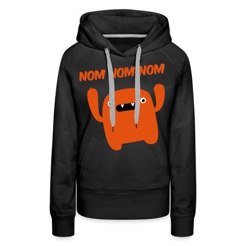 women :: nomnomnom (orange) - Women's Premium Hoodie