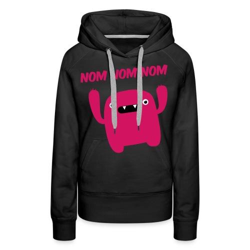 women :: nomnomnom (pink) - Women's Premium Hoodie