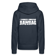 Hoodies & Sweatshirts ~ Women's Premium Hoodie ~ I Survived Hurricane Bawbag