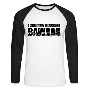 I Survived Hurricane Bawbag - Men's Long Sleeve Baseball T-Shirt