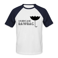 T-Shirts ~ Men's Baseball T-Shirt ~ Hurricane Bawbag Brolly Up